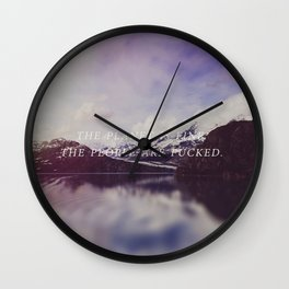 The Planet is Fine Wall Clock