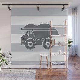 Grey on Grey Dump Truck Wall Mural