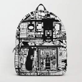 Beijing city map black and white Backpack