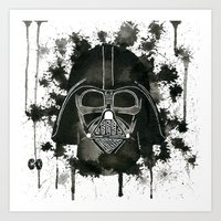 dark side Art Prints featuring Dark side by Gilles Bosquet