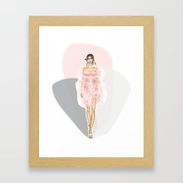 Pink Fashion Fairytale Framed Art Print