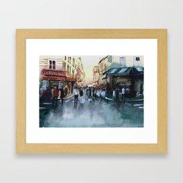 PARIS Street - Painting Framed Art Print