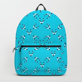 Foxes blue pattern Backpack