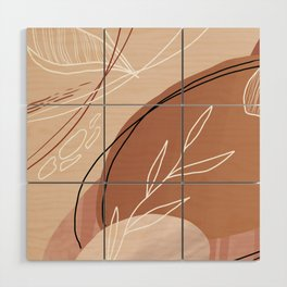 Abstract Peach Wood Wall Art