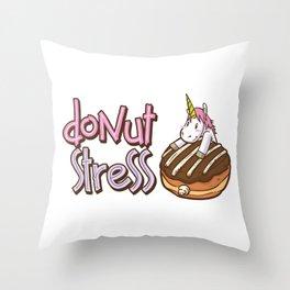 Donut Stress Throw Pillow
