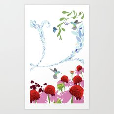 Meadow triptych part 3 Art Print