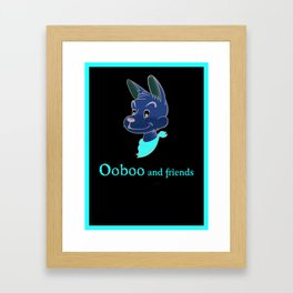 Ooboo and friends: Oooboo Poster Framed Art Print