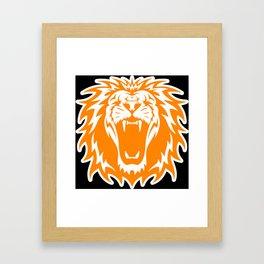 Wild jungle Animal Lion Roar Framed Art Print