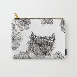 Scottish Terrier - Line Drawing Carry-All Pouch