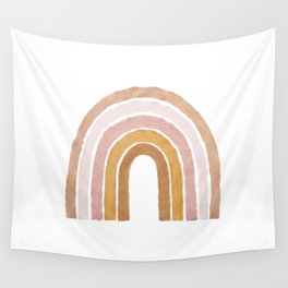 painted rainbow Wall Tapestry