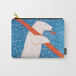 Vintage Ski Bear Carry-All Pouch