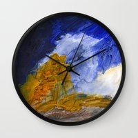 fear and loathing Wall Clocks featuring Fear and Loathing by Tonya Doughty