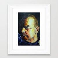 dad Framed Art Prints featuring Dad by Ellen Wappett