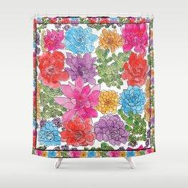 1960s Garden by Offhand Designs Shower Curtain
