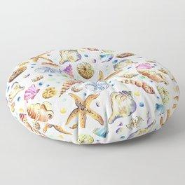 Starfish shell carnival Floor Pillow