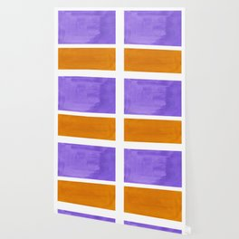 Minimalist Abstract Rothko Mid Century Modern Color Field Lavender Yellow Ochre Wallpaper