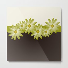 Green Daisy Metal Print