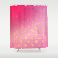 fleur de lis Shower Curtains featuring Fleur de Lis by Mr & Mrs Quirynen