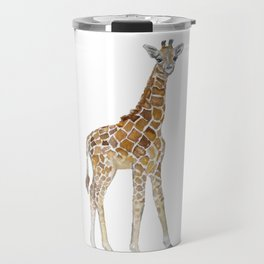 Baby Giraffe Watercolor Painting Travel Mug
