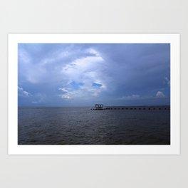 The Pier at Bokeelia I Art Print
