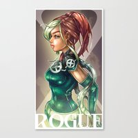 rogue Canvas Prints featuring ROGUE by Tim Shumate