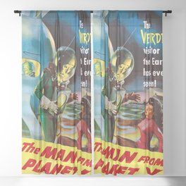 The Man From Planet X - Vintage Film Poster Sheer Curtain