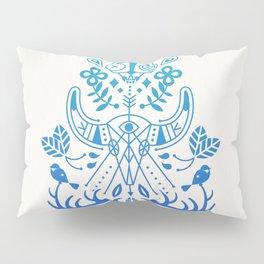 La Vie & La Mort – Blue Ombré Pillow Sham