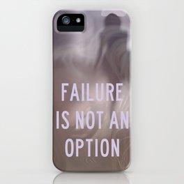 not an option iPhone Case