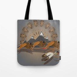 Native American Indian Buffalo Nation Tote Bag