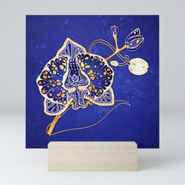 Egyptian Blue :: Orchid Mini Art Print