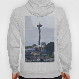 Gold Topped Space Needle Hoody