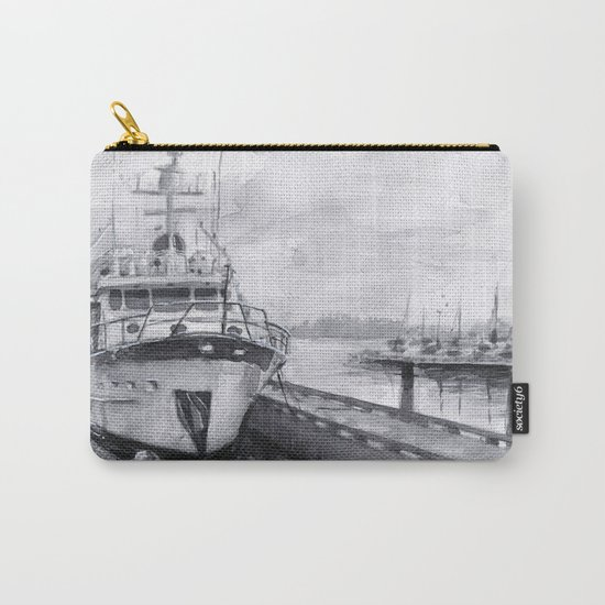 Kirkland Marina Waterfront Boat Watercolor Seattle Carry-All Pouch