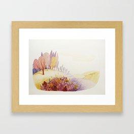 Over the hills Framed Art Print