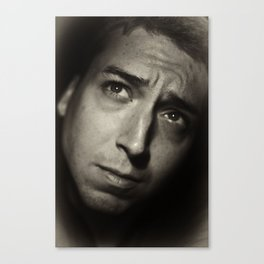 Self-portrait, early morning Canvas Print