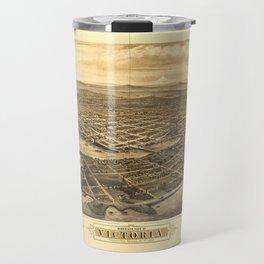 Bird's Eye View of Victoria, British Columbia, Canada (1878) Travel Mug