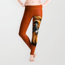 Halloween Pumpkin Pug Leggings