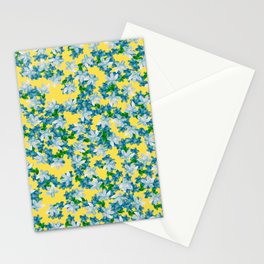 Summer Flowers Yellow Stationery Cards