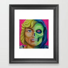 He-man & Skeleton Framed Art Print