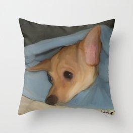 Sleepy Chihuahua Throw Pillow