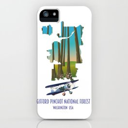 Gifford Pinchot National Forest map iPhone Case