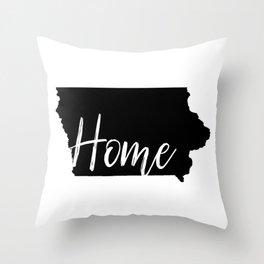 Iowa-Home Throw Pillow