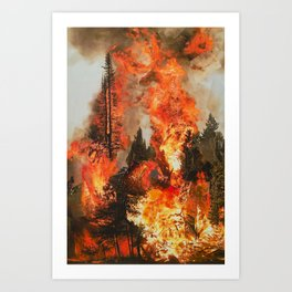 Fire Study #1 Art Print