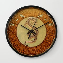 Wonderful mystical dragon Wall Clock