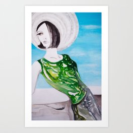 Au bord de la mer Art Print