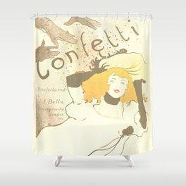 """Henri de Toulouse-Lautrec """"Confetti"""" Shower Curtain"""