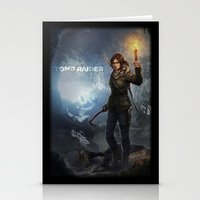 tomb raider Stationery Cards featuring Rise of the Tomb Raider - v01 by trixdraws
