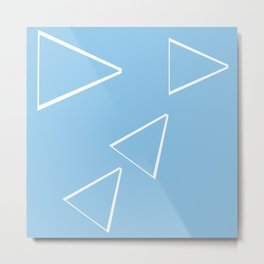 Digital triangle origami Metal Print