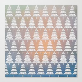 Geometric Christmas Trees 6 Canvas Print