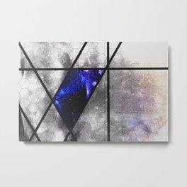 blue trapezoid Metal Print