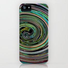 Hypnotic vortex iPhone Case